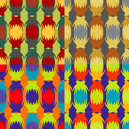 Seamless abstract pattern of colored glowing lanterns