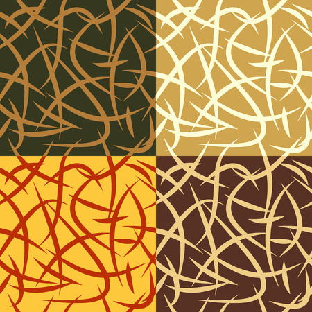 gabled: Set of colorful seamless backgrounds with irregular gabled strips
