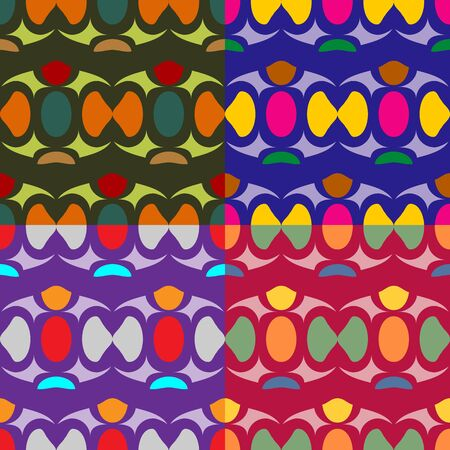 screen savers: Abstract seamless patterns set of colored shapes