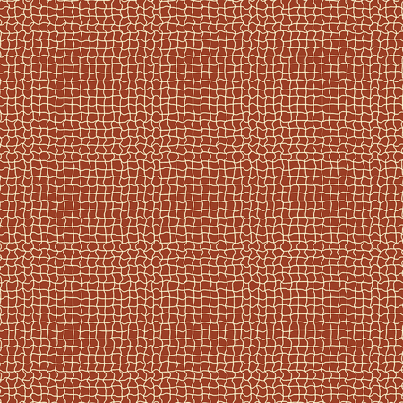 Seamless pattern of irregular grid on brown background