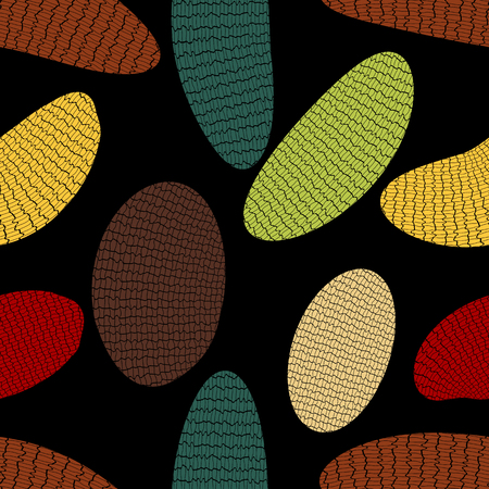 Seamless pattern from the wrong ovals, covered with rough net Ilustrace