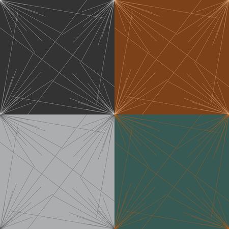 다양 한 크기의 광선의 원활한 패턴의 집합