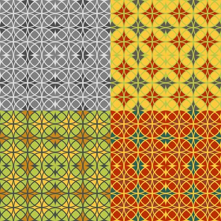 Set of seamless patterns in the style of stained glass