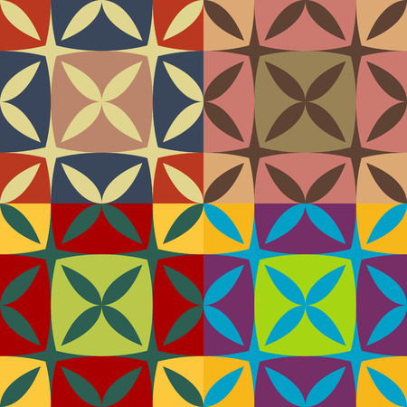 pontudo: Set of seamless color patterns of the right pointed ovals