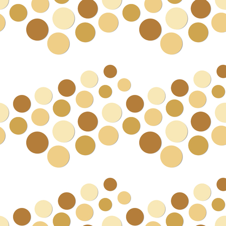 Seamless vector background with plain brown light shadow boxing circles