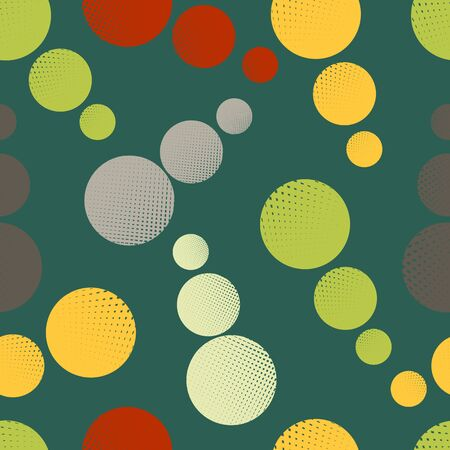 Seamless vector background with light green colored circles 向量圖像