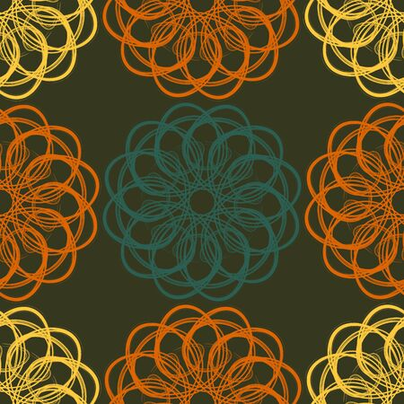 simulations: Abstract seamless vector pattern decorated with simulated brush strokes