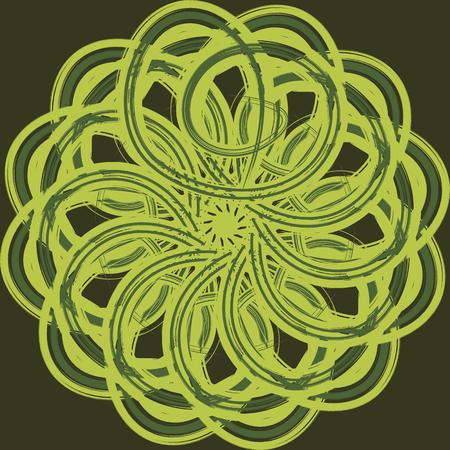 시뮬레이션: Abstract seamless vector pattern decorated with simulated brush strokes