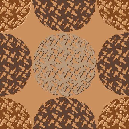 피부 색의 갈색 음영으로 추상 원활한 벡터 패턴 일러스트