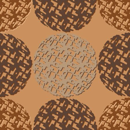 Abstract seamless vector pattern in brown shades of colour of the skin