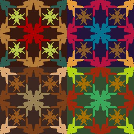 원활한 벡터 추상적 인 색 패턴의 집합 일러스트