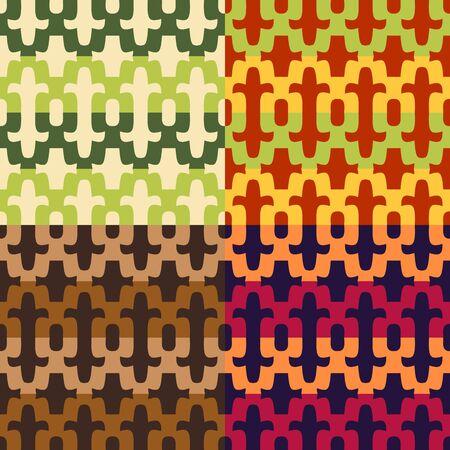 색상 모자이크의 스타일로 만든 완벽 한 벡터 패턴 집합
