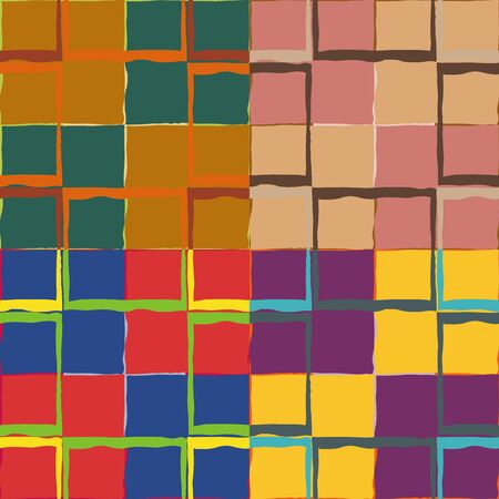 Set color of seamless patterns from rough squares. Çizim