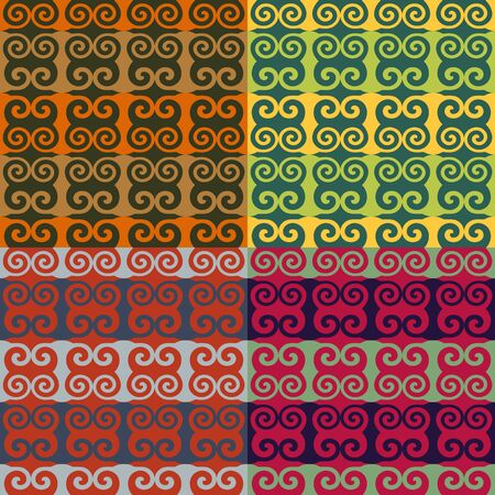 Set color of seamless patterns of spiral elements