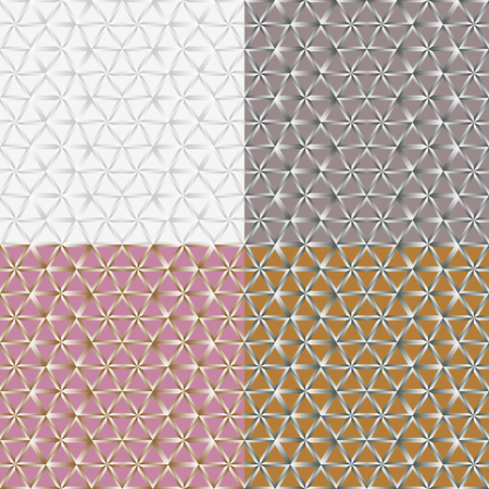 Set color of seamless patterns from a stylized lattice with gradient transitions