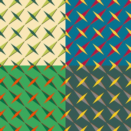 monophonic: Set color of seamless patterns of elongated diamonds on a monophonic background