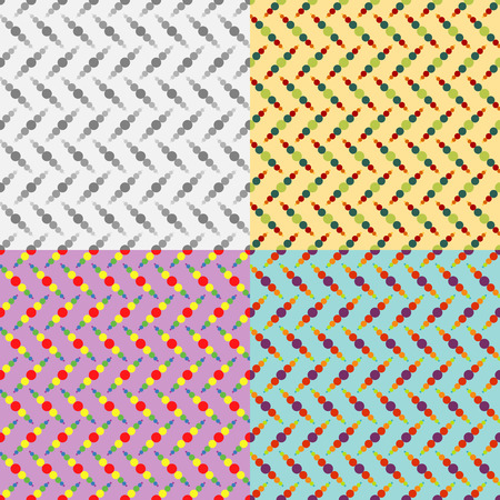 Seamless patterns from a set of colored symmetric circles of various sizes