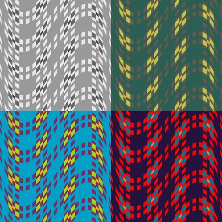 Seamless patterns from a set of colored squares on a monophonic background Ilustrace
