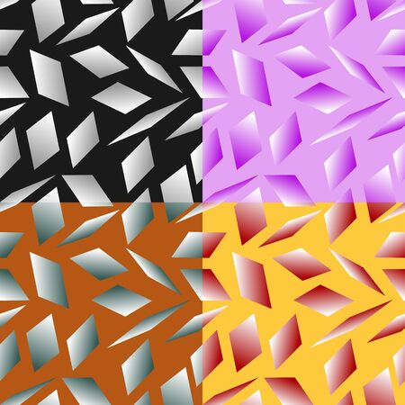 parallelogram: Set color of seamless geometric patterns with the parallelograms stylized under glass