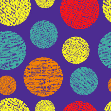 Abstract colorful seamless pattern from different circles Vector