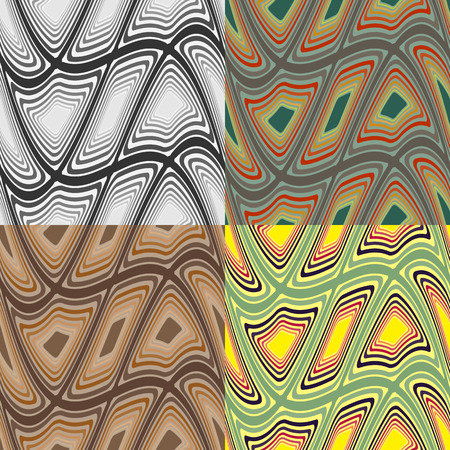 Set color of seamless vector patterns from distorted rectangles