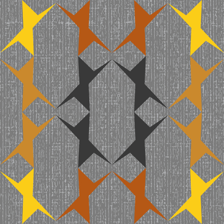 Seamless geometric pattern of abstract geometrical figures pointed to a steel basis