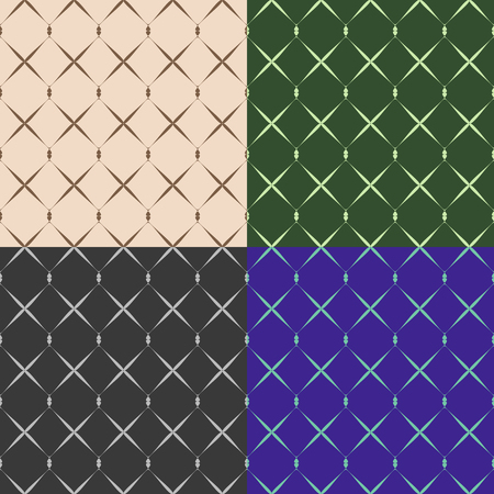 monophonic: Set color of seamless grid pattern on a monophonic background Illustration