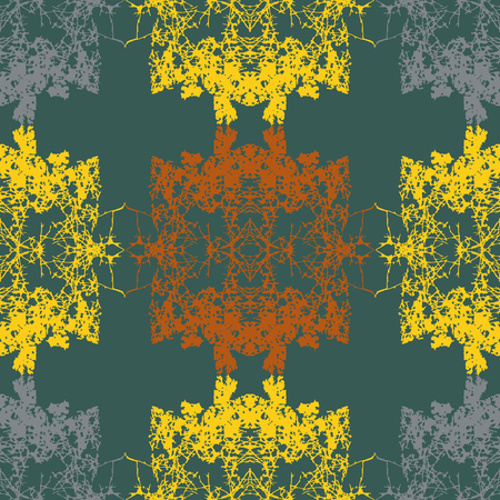 chaotic: Vector abstract seamless pattern of chaotic symmetrical curves Illustration