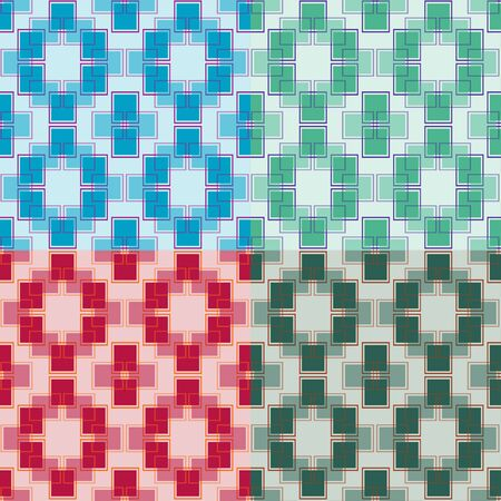 solid background: Set of seamless pattern of rectangles on a solid background Illustration