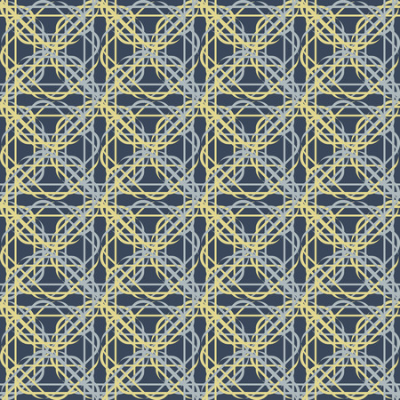 solid background: Seamless patterns of intertwining oval lines on a solid background