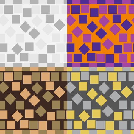 A set of abstract vector seamless geometric patterns of squares Reklamní fotografie - 45947761