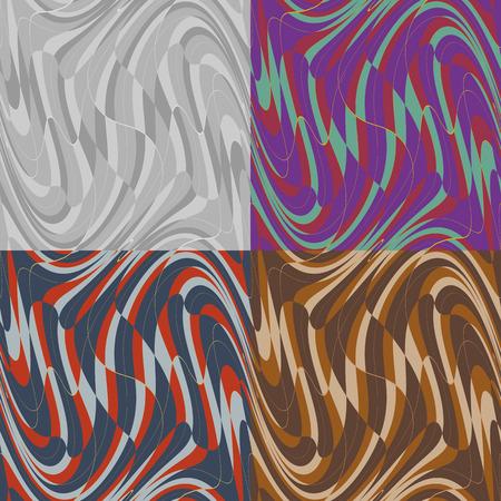 ベクトル波パターンのシームレスな幾何学的な歪みのセット