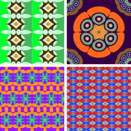4 개의 벡터 원활한 패턴 집합 기하학적 모양의 추상 상품 스톡 콘텐츠 - 49958901