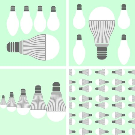 Comparison of lifetime lighting led and conventional incandescent lamps
