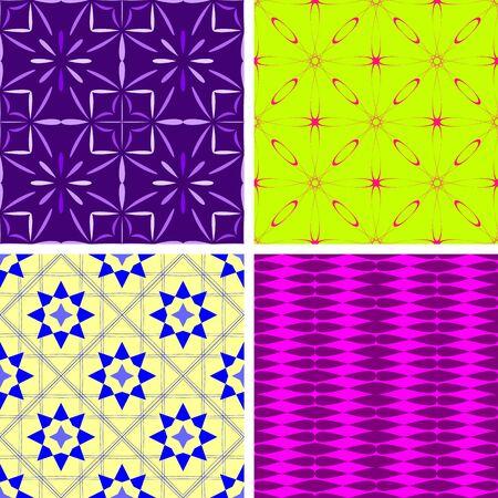 불규칙한 기하학적 모양, 벡터 그래픽으로 구성된 원활한 다채로운 패턴