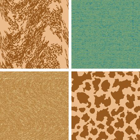 Set four color of seamless vector patterns from a background with spots