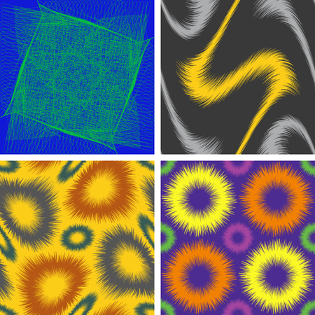 A set of four abstract vector graphic drawing thin lines, background Çizim