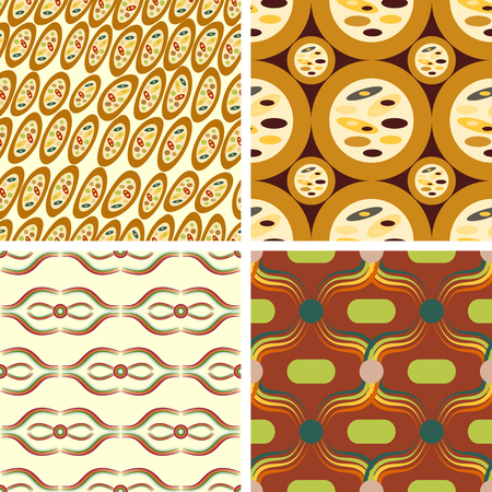 discreto: A set of four abstract vector seamless patterns