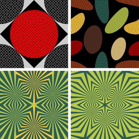 undulating: A set of four vector seamless patterns