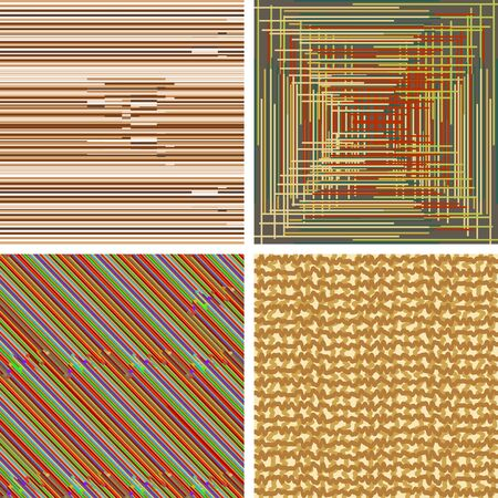 perpendicular: Set of abstract seamless background patterns with colored parallel and perpendicular strips