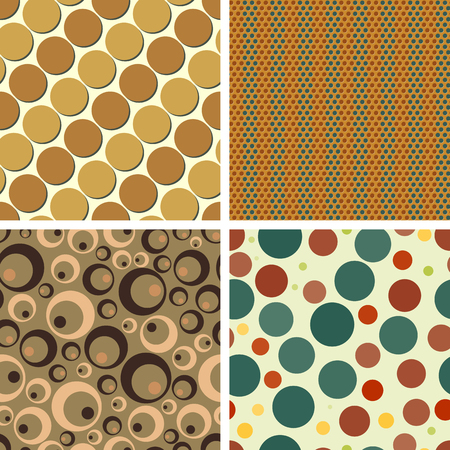 Set color of seamless patterns from chaotic circles of various sizes