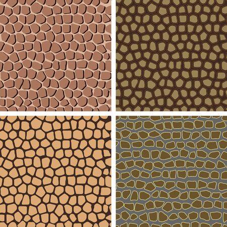 discreto: Conjunto de fondos inconsútiles abstractos de colores, imitando la estructura de la piel Vectores