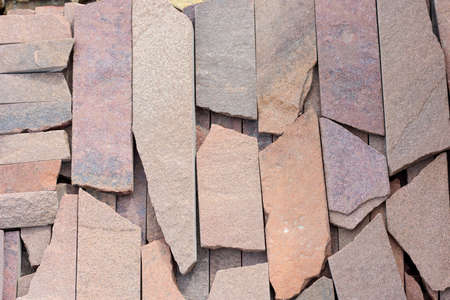 treated: Background of natural building stone treated Stock Photo
