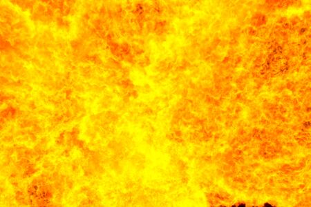 computer simulation: Fiery red background, computer simulation of a bright flame