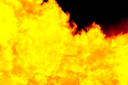 simulation: Fiery yellow background, computer simulation of a bright flame