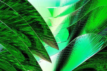 Gráficos por ordenador resumen de vidrio verde arte imitando Foto de archivo - 61720006