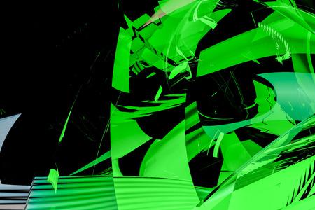 Gráficos por ordenador resumen de vidrio verde arte imitando Foto de archivo - 61720009