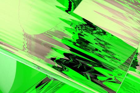Gráficos por ordenador resumen de vidrio verde arte imitando Foto de archivo - 61720028