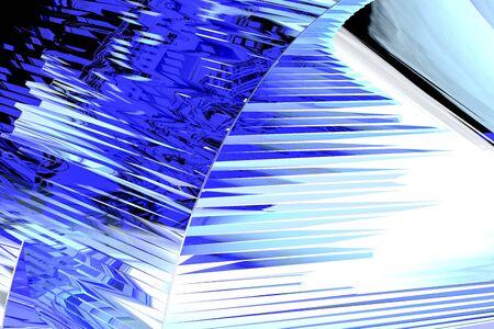 Gráficos por ordenador abstracto de cristal del arte imitando Azul Foto de archivo - 61720027