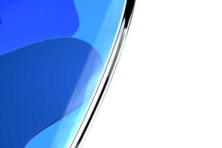 Gráficos por ordenador abstracto de cristal del arte imitando Azul Foto de archivo - 61720029